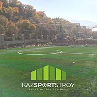 Строительство футбольного поля открытого типа. Зона отдыха 3