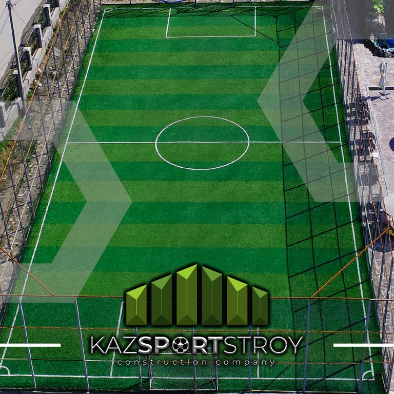 Строительство футбольного поля открытого типа. Зона отдыха