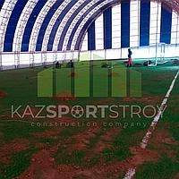 Строительство футбольного поля закрытого типа. Талгар КТЛ 1
