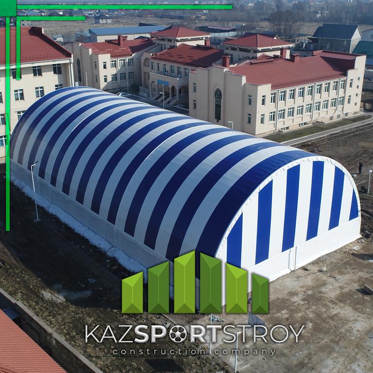 Строительство футбольного поля закрытого типа. Талгар КТЛ