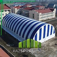 Строительство футбольного поля закрытого типа. Талгар КТЛ 2