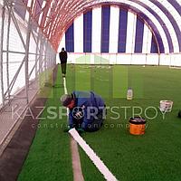 Строительство футбольного поля закрытого типа. Талгар КТЛ 3
