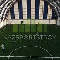 Строительство футбольного поля закрытого типа. Талгар КТЛ 4
