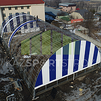 Строительство футбольного поля закрытого типа. Талгар КТЛ 5
