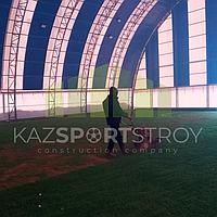 Строительство футбольного поля закрытого типа. Талгар КТЛ 7