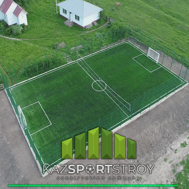 Строительство футбольного поля открытого типа. Алматинская облась, Узынагаш