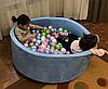 Сухой бассейн Нежность Голубой с шариками 200шт.