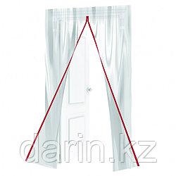 Пленочная дверь на молнии типа I, 220 x 120 cm, с малярной лентой 2.5 см х 10 м Matrix