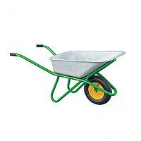 Тачка садово-строительная, усиленная, грузоподъемность 200 кг, объем 90 л Россия