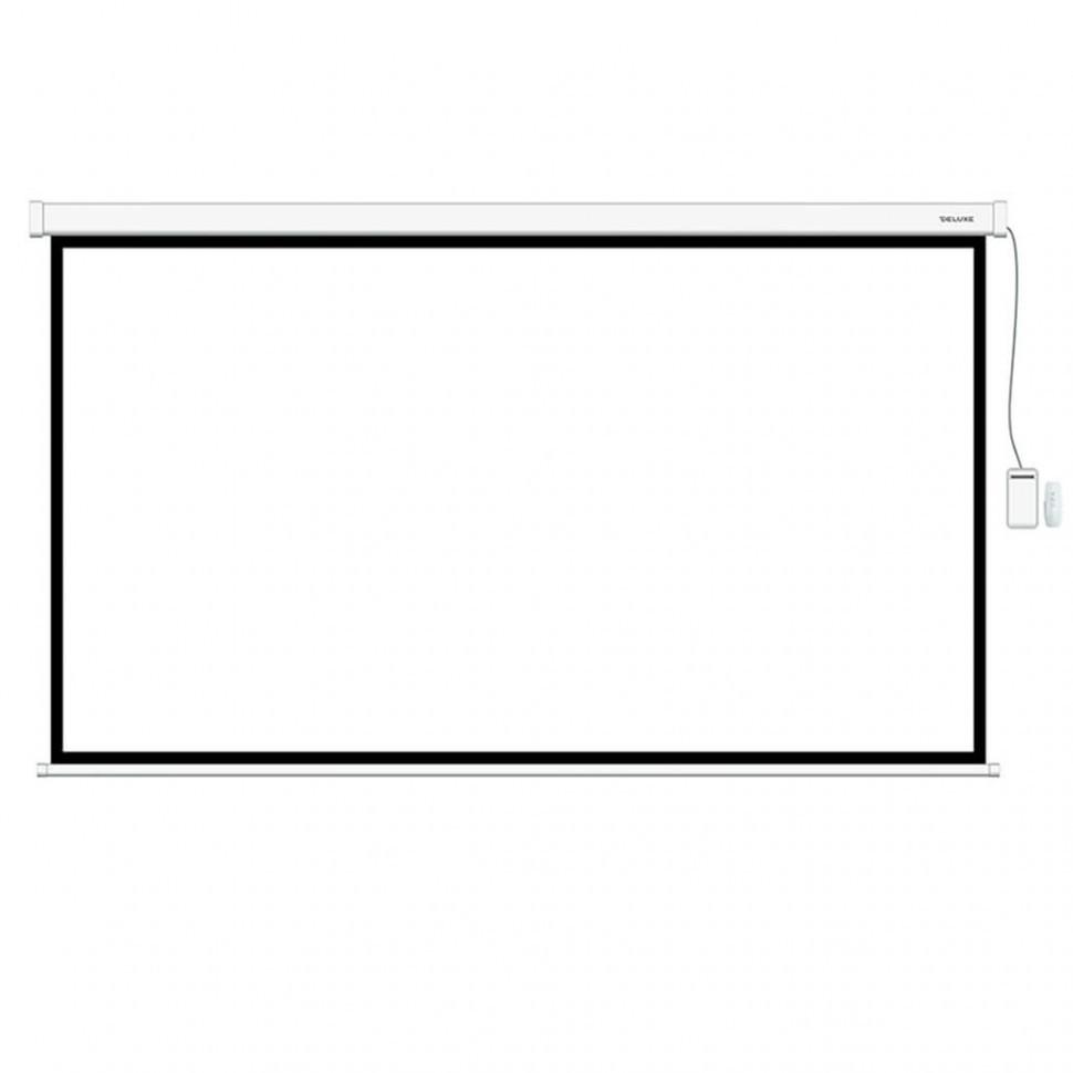 Экран моторизированный (с пультом Д/У), Deluxe, DLS-ERC300x180W, Настенный/потолочный, Рабочая поверхность