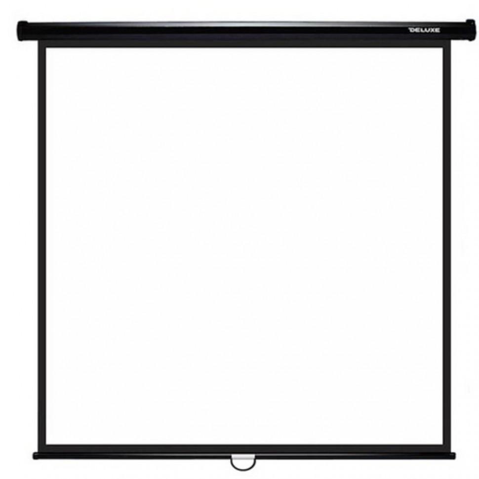 Экран механический, Deluxe, DLS-M213xW, Настенный/потолочный, Рабочая поверхность 205х205 см., 1:1, Matt
