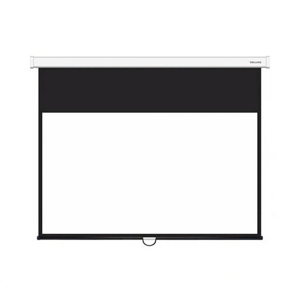 Экран, Deluxe, DLS-M265х149W, Настенный/потолочный, Раб. поверхность 257x141, 16:9, Matt white, Белый