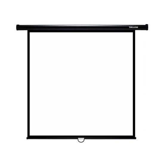 Экран механический, Deluxe, DLS-M274x, Настенный/потолочный, Рабочая поверхность 266х266 см., 1:1, Matt white,