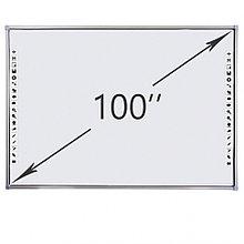 Интерактивная доска DigiTouch DTWB100SM10A00ALG, 10 касаний, диагональ 100 дюймов, цвет рамки серый