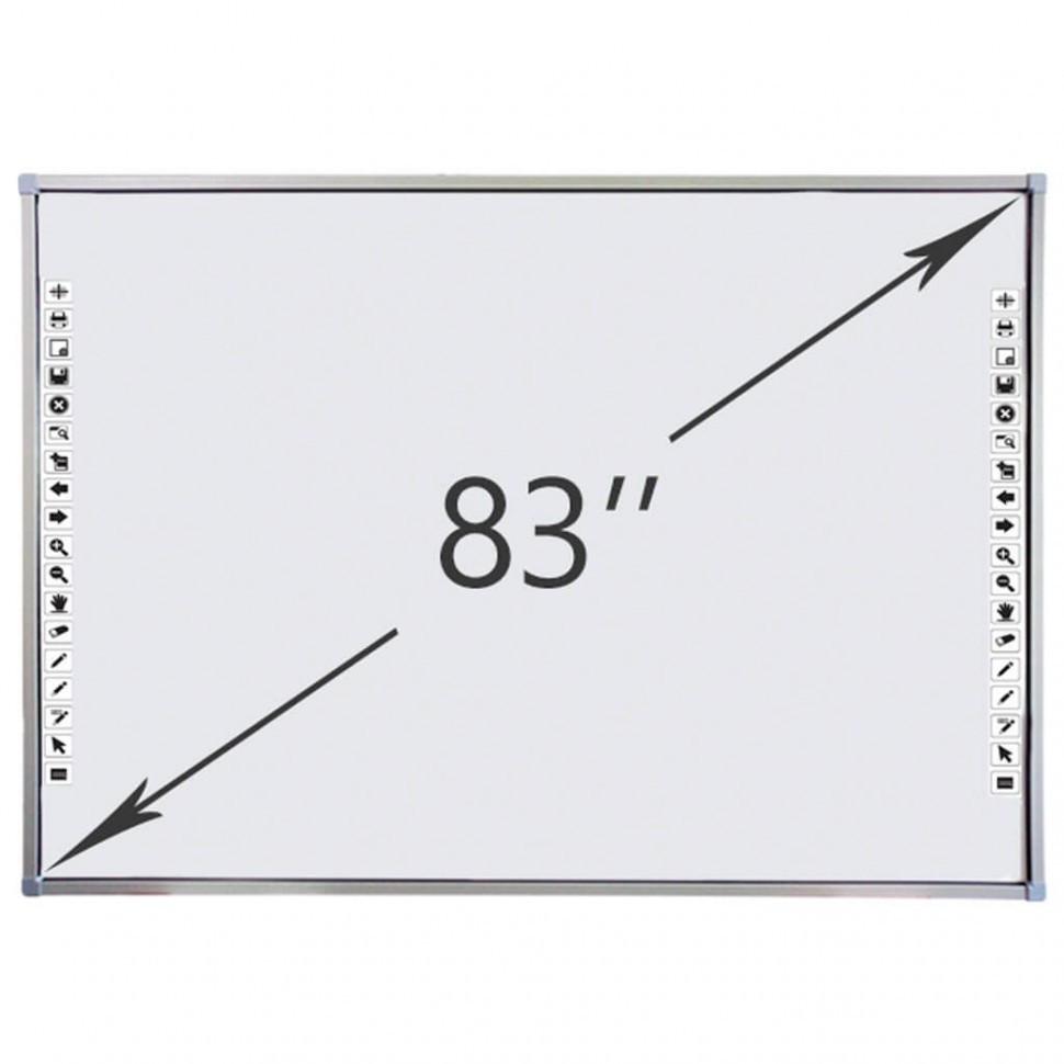 Интерактивная доска DigiTouch DTWB83SM10A00ALG, 10 касаний, диагональ 83 дюйма, цвет рамки серый
