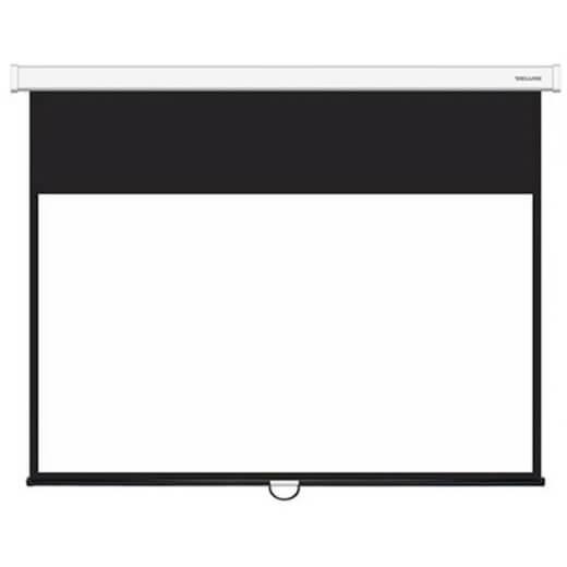 Экран, Deluxe, DLS-M221x121W, Настенный/потолочный, Рабочая поверхность 213x113, 16:9, Matt white, Белый