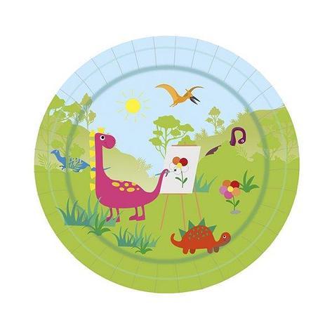 """Тарелка d 180мм, дизайн """"Динозаврики"""", картон, 6 шт, фото 2"""
