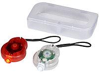 Велосипедный фонарь Zeta в футляре, 2 шт, прозрачный