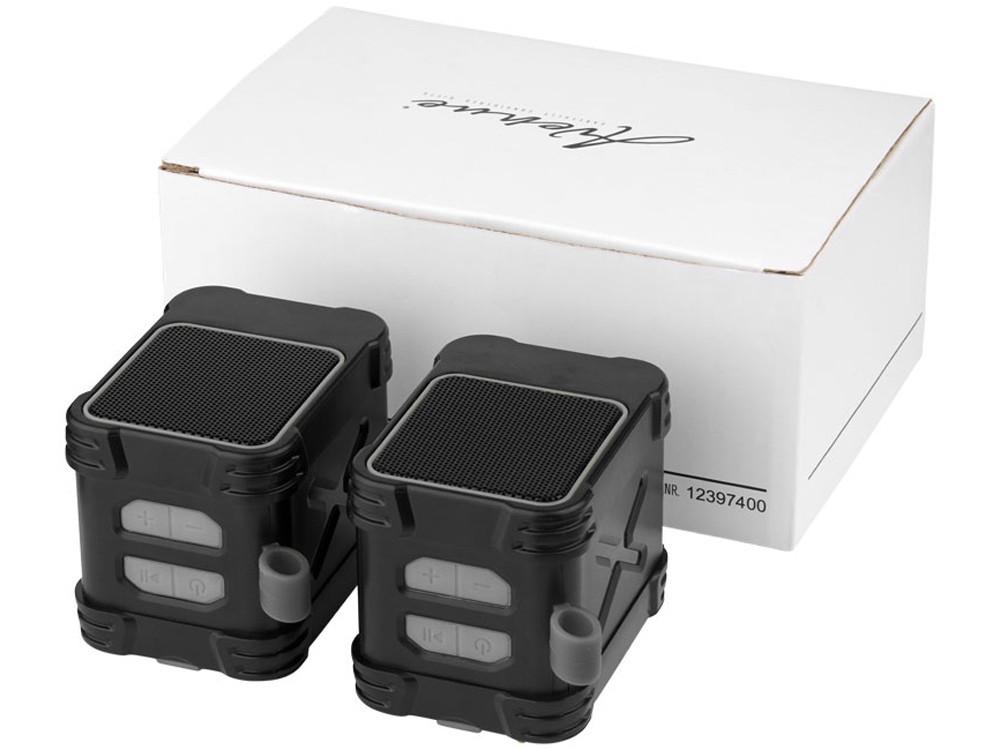 Водонепроницаемые колонки Bond с функцией Bluetooth® для использования на открытом воздухе, черный - фото 1