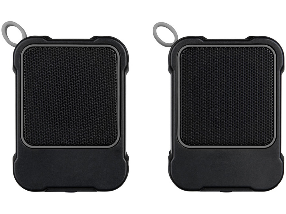 Водонепроницаемые колонки Bond с функцией Bluetooth® для использования на открытом воздухе, черный - фото 2