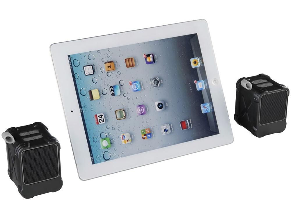 Водонепроницаемые колонки Bond с функцией Bluetooth® для использования на открытом воздухе, черный - фото 5