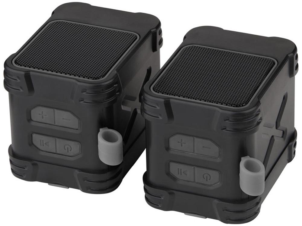 Водонепроницаемые колонки Bond с функцией Bluetooth® для использования на открытом воздухе, черный - фото 6