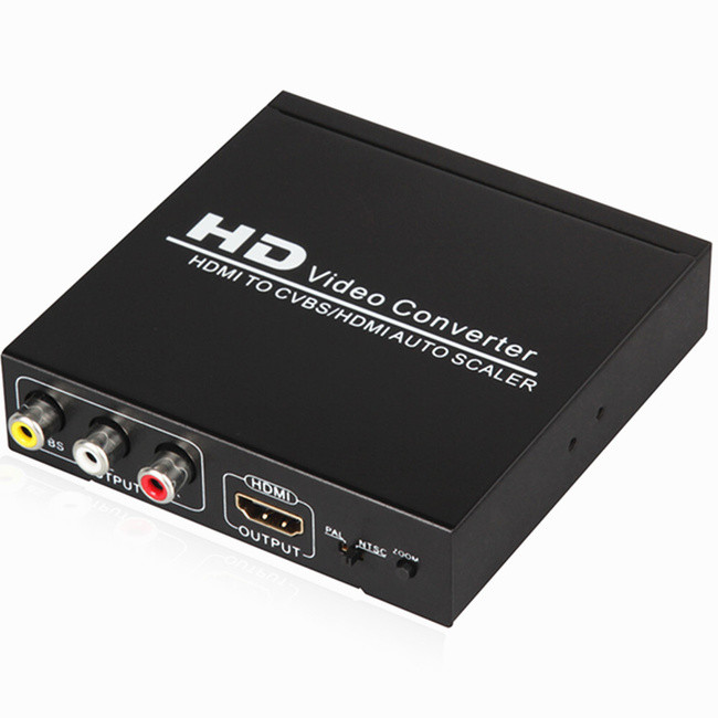 Конвертер HDMI - CVBS, HDMI , 1080P, PAL/NTSC, AV RCA тюльпаны.