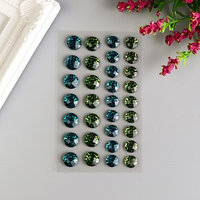 Декоративные наклейки 'Зелёный и голубой' 28 шт