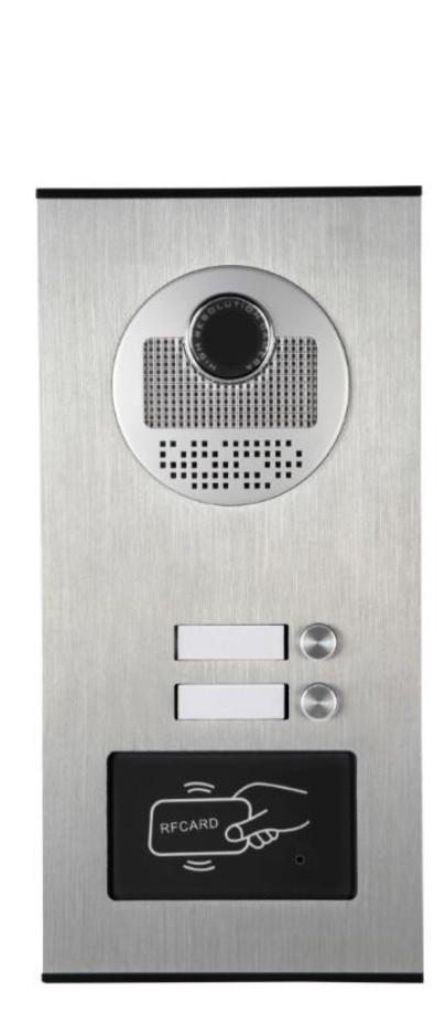 Вызывная панель видеодомофона Стражник RFID-2-520, металл, 2-абонентская /гарантия - 6 мес/