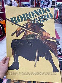 """Крафтовый постер """"Ван Пис. Ророноа Зоро (вар. второй)"""""""