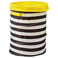 Корзина c крышкой ФЛЮТТБАР желтый ИКЕА, IKEA, фото 1