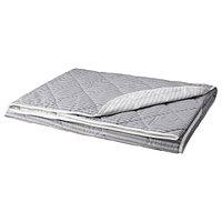Покрывало АКСВЕРОНИКА серый 180x220 см ИКЕА, IKEA