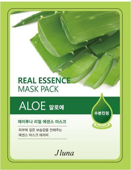 JUNO Jluna Real Essence Mask Pack Aloe Тканевая Маска с Алоэ