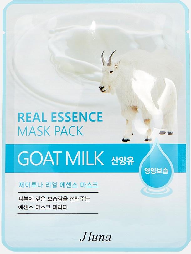 JUNO Jluna Real Essence Mask Pack Тканевая Маска с Козьим Молоком