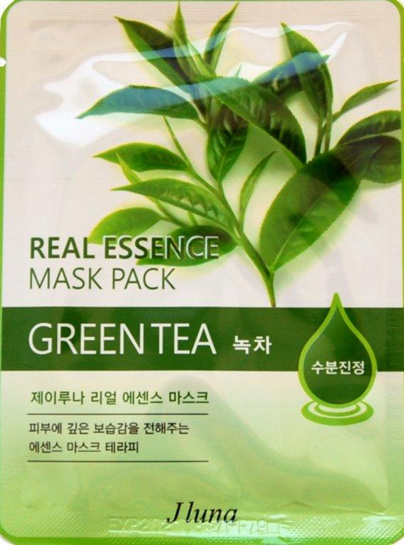 Juno Тканевая маска с зеленым чаем Jluna Real Essence Mask Pack