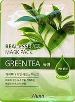 JUNO Jluna Real Essence Mask Pack Тканевая Маска с Зеленым Чаем