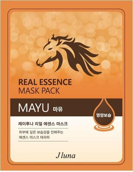 JUNO Jluna Real Essence Mask Тканевая Маска с Жиром Лошади