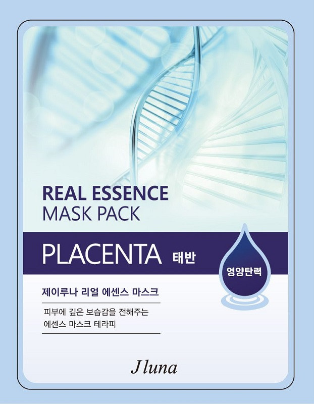 JUNO Jluna Real Essence Mask Pack Тканевая Маск с Плацентой