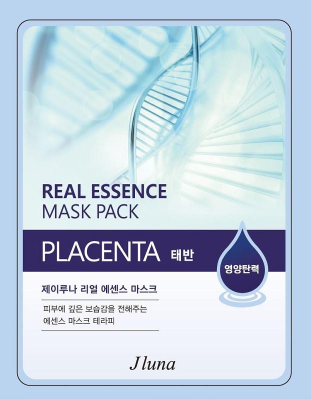 Juno Тканевая Маска с плацентой Jluna Real Essence Mask Pack
