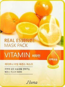 JUNO Jluna Real Essence Mask Pack Тканевая Маска с Витамином С