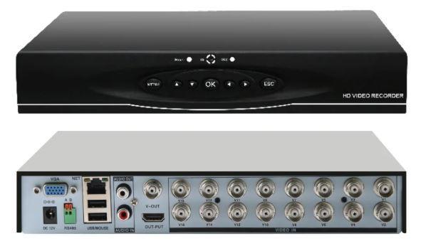 Гибридный HVR 3в1 AHD/DVR/NVR регистратор 16-каналов
