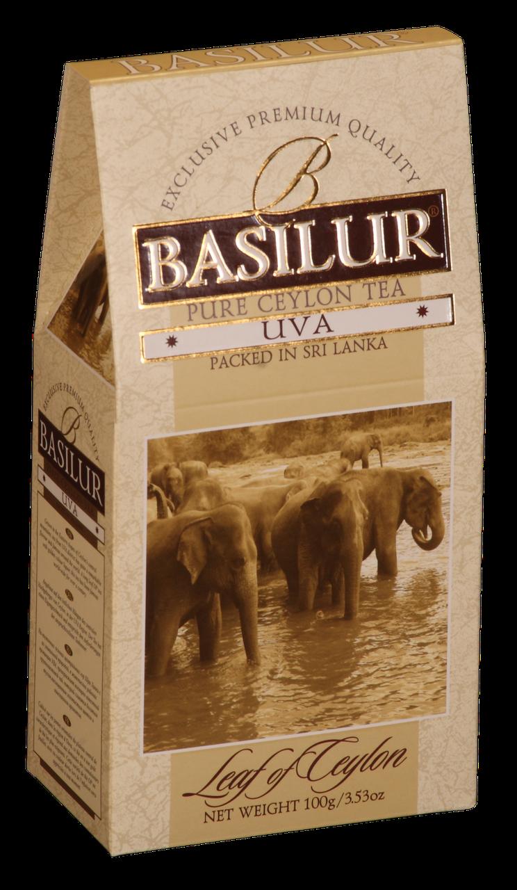 Чай черный рассыпной Лист Цейлона Uva, 100гр Basilur