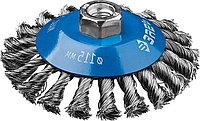 """ЗУБР """"ПРОФЕССИОНАЛ"""". Щетка коническая для УШМ, плетеные пучки стальной проволоки 0,5мм, 115ммхМ14, фото 1"""