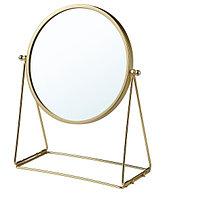 Зеркало настольное ЛАССБЮН золотой, 17 см ИКЕА, IKEA, фото 1