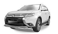 """Защита переднего бампера d57 """"волна"""" Mitsubishi Outlander 2014-"""