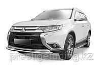 Защита переднего бампера d57 Mitsubishi Outlander 2014-