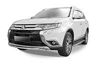 Защита переднего бампера d57 короткая Mitsubishi Outlander 2014-