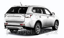 """Защита заднего бампера d57 """"волна"""" Mitsubishi Outlander 2014-"""