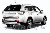 Защита заднего бампера d57 короткая Mitsubishi Outlander 2014-