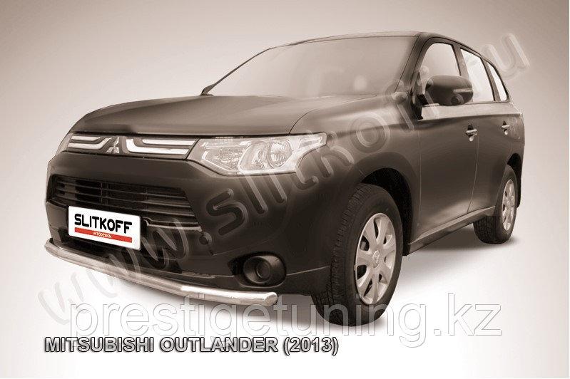 Защита переднего бампера d57 Mitsubishi Outlander 2012-14